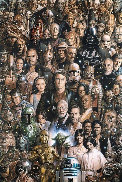 STAR WARS - characters Плакат