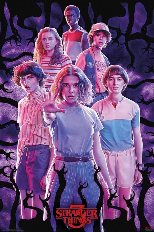 Stranger Things - Group Плакат