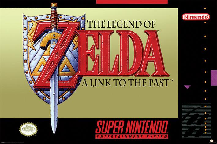 Super Nintendo - Zelda Плакат