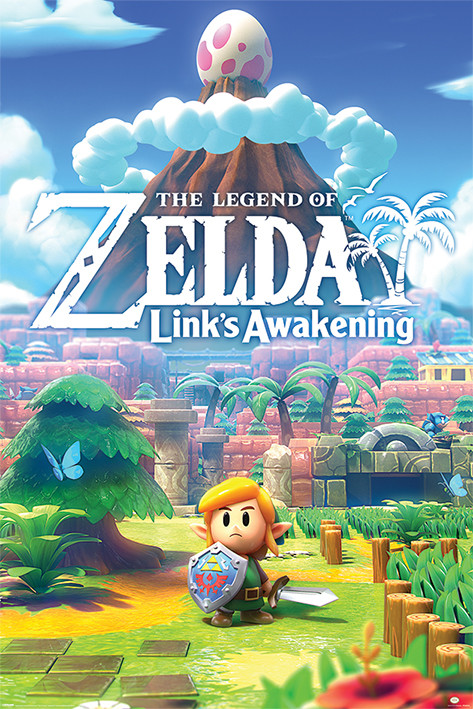 The Legend Of Zelda - Links Awakening Плакат