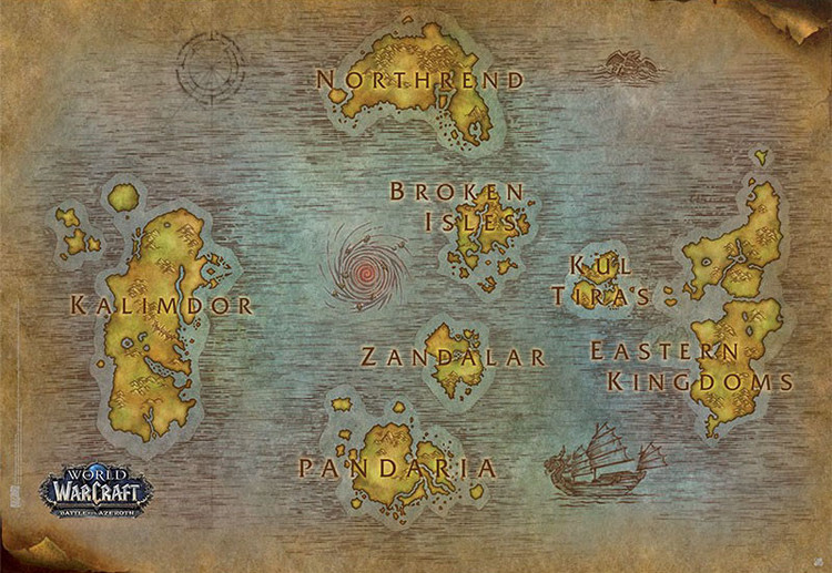 World Of Warcraft - Map Плакат