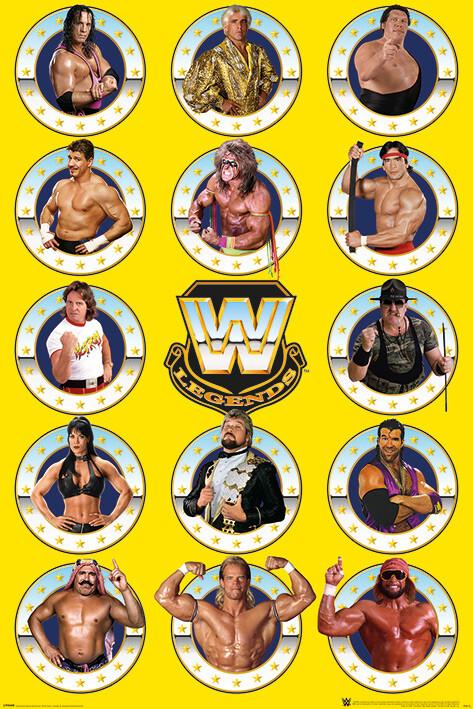WWE - Legends Chrome Плакат
