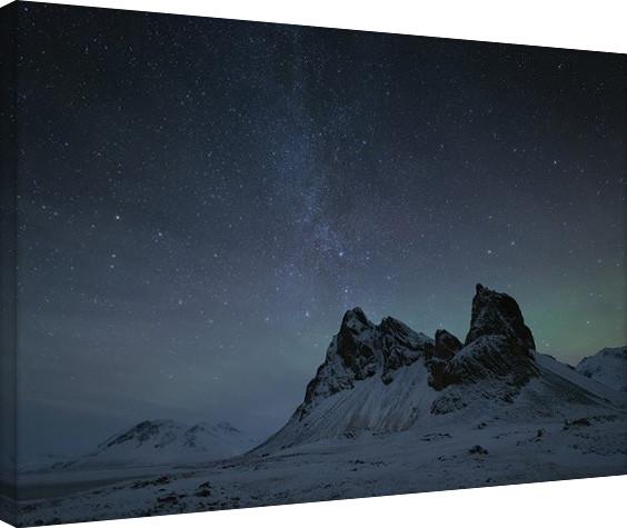 David Clapp - Starry Night, Eystrahorn Mountains, Iceland Принти на полотні