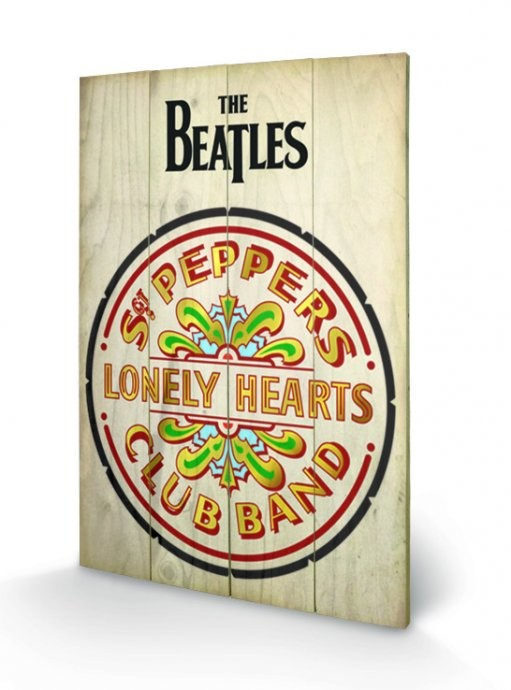 The Beatles Sgt Peppers Принт по дереві