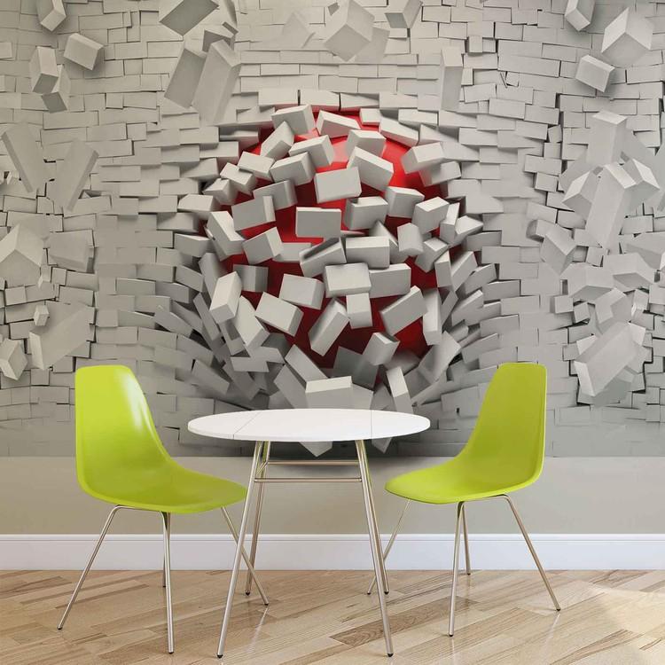 Modern Abstract Brick Wall фотошпалери