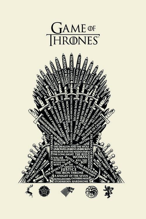 Игра на тронове - Iron Throne фототапет