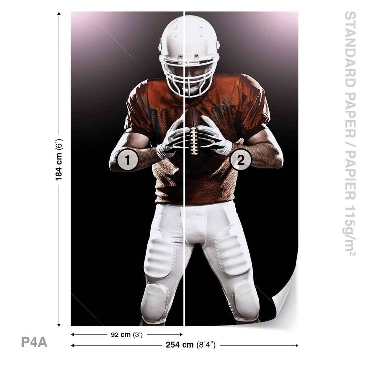 American Football Player фототапет