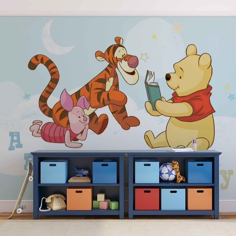Disney Winnie Pooh Piglet Tigger фототапет