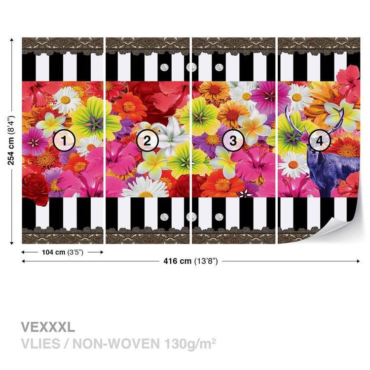 Floral Stripes фототапет