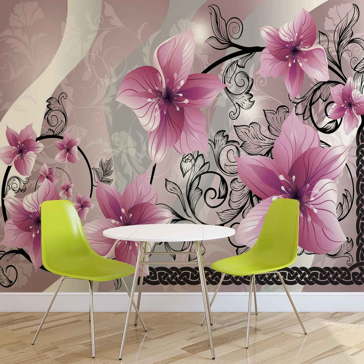 Flowers Floral Pattern Фото-тапети