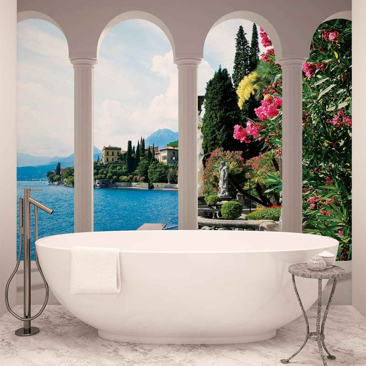 Lake Como Italy Arches Фото-тапети