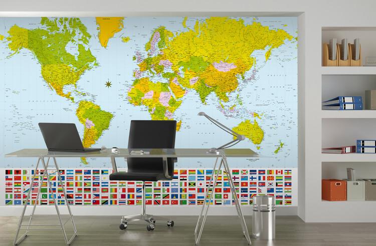 World Map - Political Фото-тапети