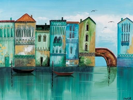 Blue Venice Художествено Изкуство