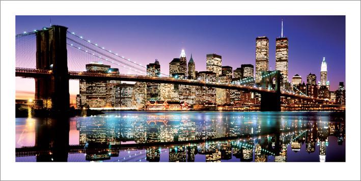 Brooklyn Bridge - Colour Художествено Изкуство
