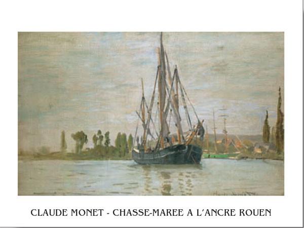 Chasse-Marée À L'Ancre (Rouen) Художествено Изкуство