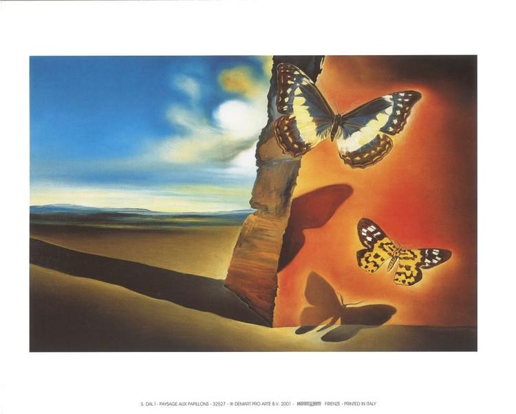 Landscape with Butterflies, 1956 Художествено Изкуство