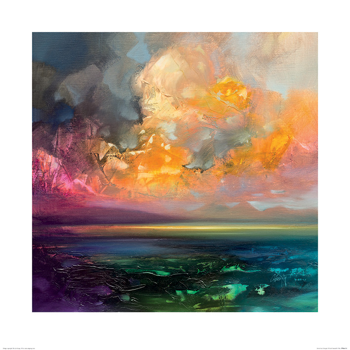 Scott Naismith - Isle of Jura Emerges Художествено Изкуство