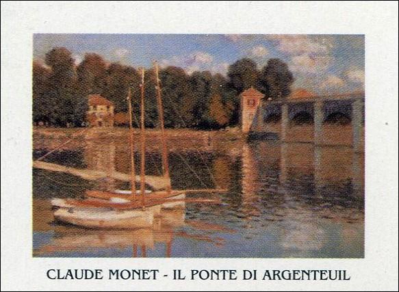 The Argenteuil Bridge, 1874 Художествено Изкуство