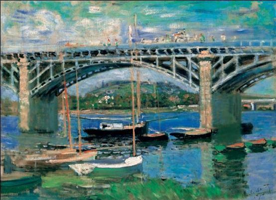 The Bridge at Argenteuil, 1874 Художествено Изкуство