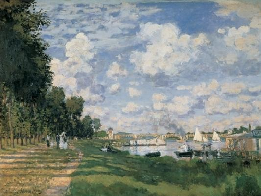 The Seine Basin at Argenteuil Художествено Изкуство