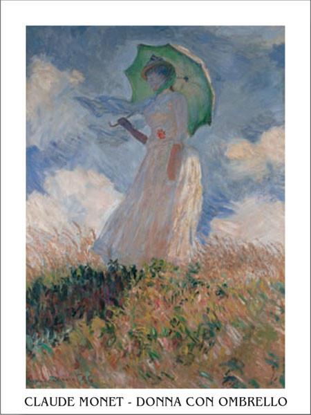 Woman with a Parasol Художествено Изкуство