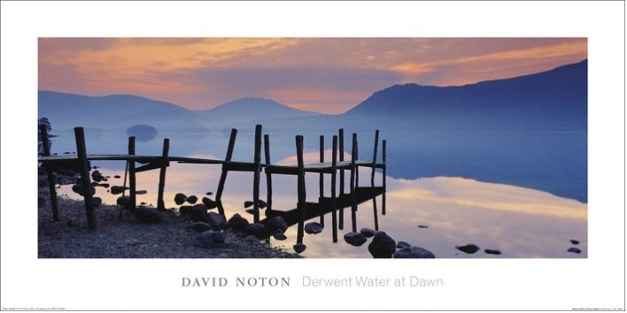 Wooden Landing Jetty - David Noton, Cumbria Художествено Изкуство