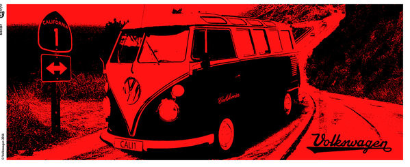 VW Camper - California Red Чаши