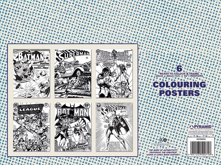 Плакати за оцветяване  DC Originals - Retro