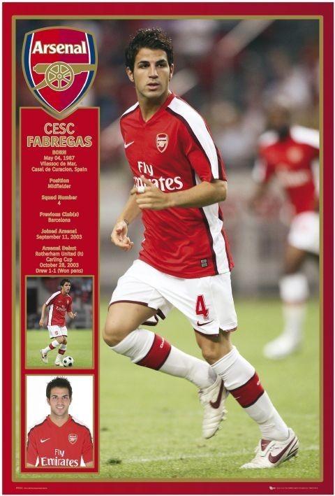Arsenal - Fabregas 08/09 плакат