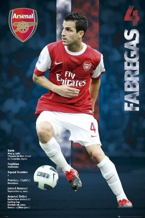 Arsenal - fabregas 2010/2011 плакат