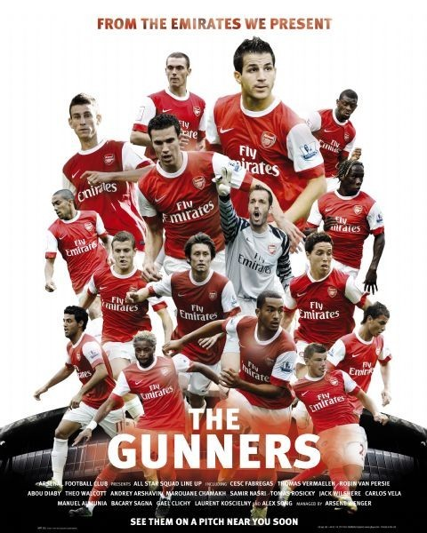 Arsenal - the gunners плакат