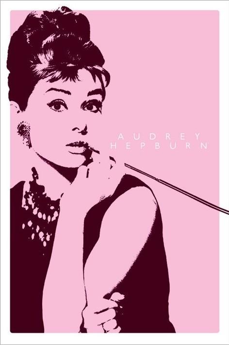 AUDREY HEPBURN - cigarello - плакат