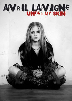 Avril Lavigne - under my skin плакат