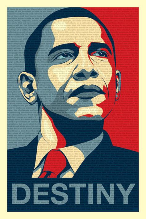 Barack Obama - fateful speech - плакат