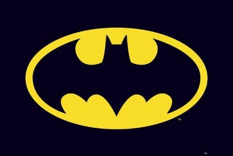 BATMAN - classic logo плакат