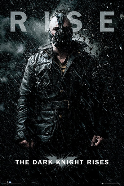BATMAN DARK KNIGHT RISES - bane rise - плакат