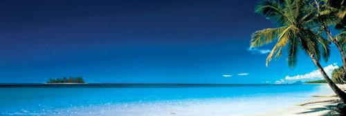 Beach - morning - плакат