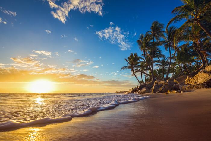 Beach - Sunset плакат
