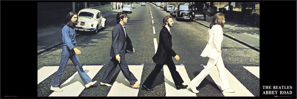 Beatles - abbey road - плакат