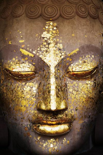 Buddha - face - плакат