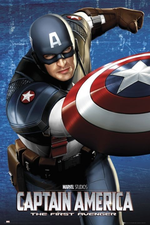 CAPTAIN AMERICA - shield плакат