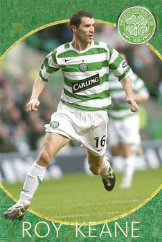 Celtic - roy keane - плакат