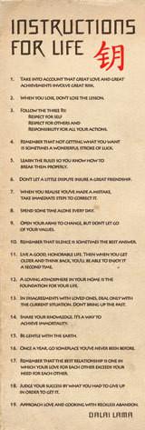 Dalai Lama - návody pro život плакат