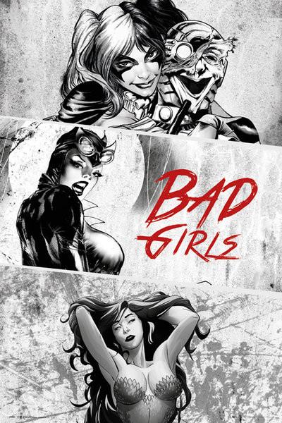 DC Comics - Badgirls (B&W) плакат