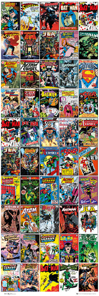 DC COMICS - covers плакат