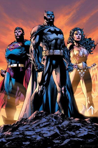 DC Comics - Justice league trio плакат