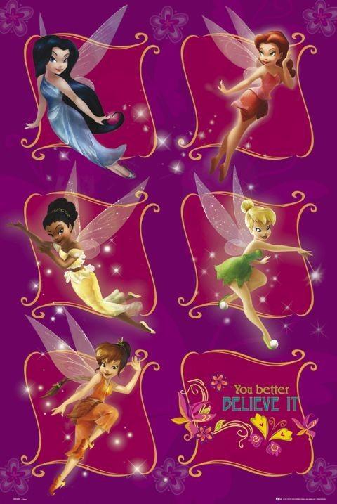 DISNEY FAIRIES - believe плакат