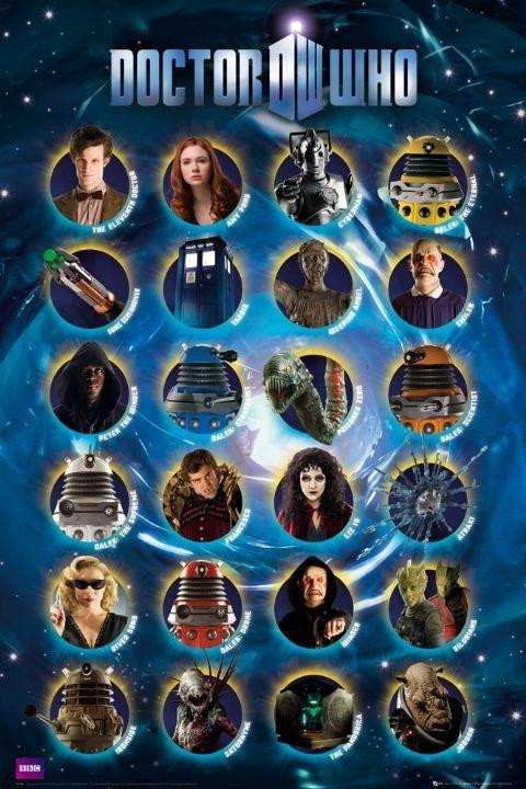 DOCTOR WHO - characters плакат