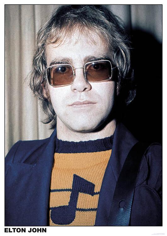 Elton John - London плакат