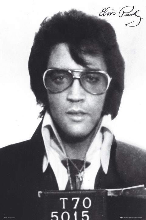 Elvis Presley - mugshot - плакат